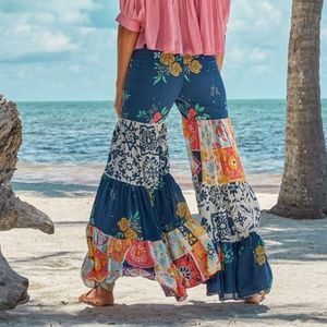 Carolina K Patchwork Wide Leg Pants M